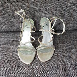 STUART WEITZMAN Crystal Embellished Sandals Heels